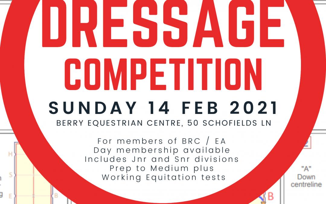 Dressage Comp – Sun 14 Feb