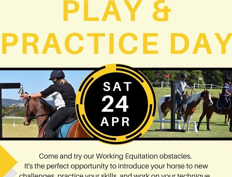 WE Play & Practice Day – Sat 24 April