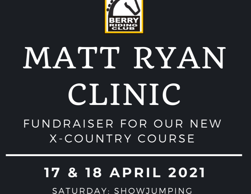 Matt Ryan Eventing Clinic – 17/18 April