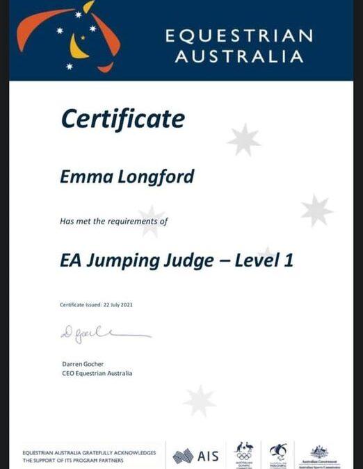 Congratulations Emma Longford!